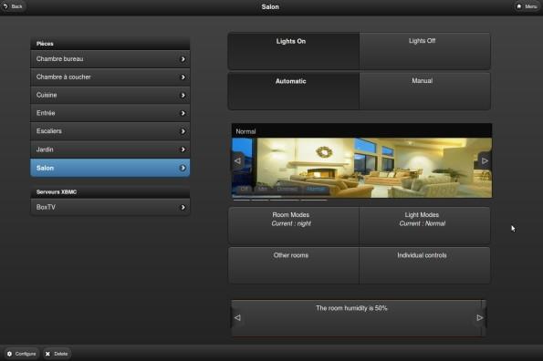 L'interface principale